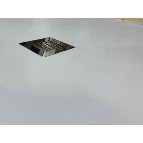 Bewonen Bauke douchebak composietsteen - 140x90x3cm - wit