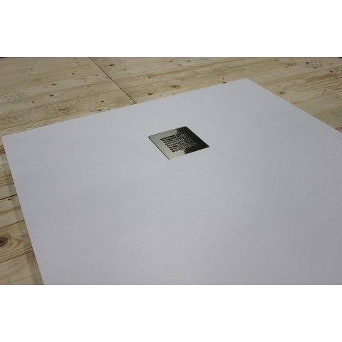 Bewonen Bauke douchebak composietsteen - 180x90x3cm - wit