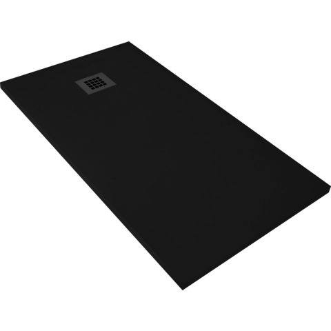 Bewonen Bauke douchebak composietsteen - 120x80x3cm - zwart