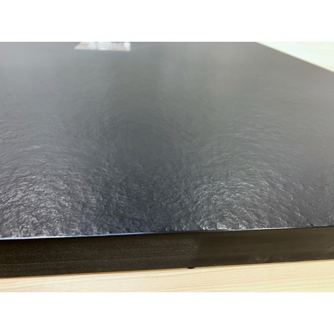Bewonen Bauke douchebak composietsteen - 140x90x3cm - zwart