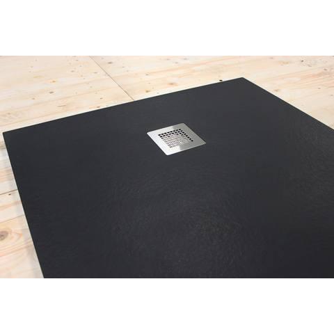 Bewonen Bauke douchebak composietsteen - 180x90x3cm - zwart