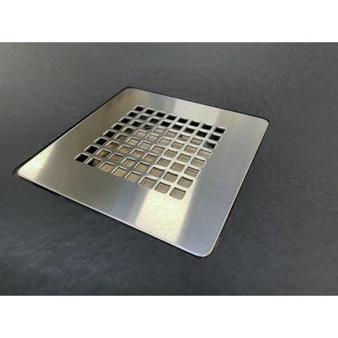 Bewonen Bauke douchebak composietsteen - 90x90x3cm - zwart