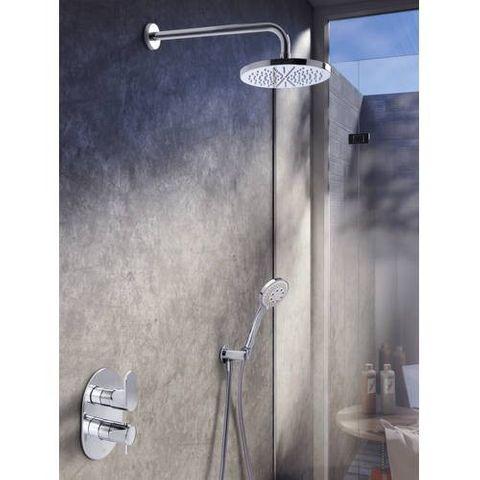 Hotbath IBS 5A Get Together inbouw doucheset Friendo geborsteld nikkel - met staafhanddouche - wandarm - hoofddouche 25cm - glijstang