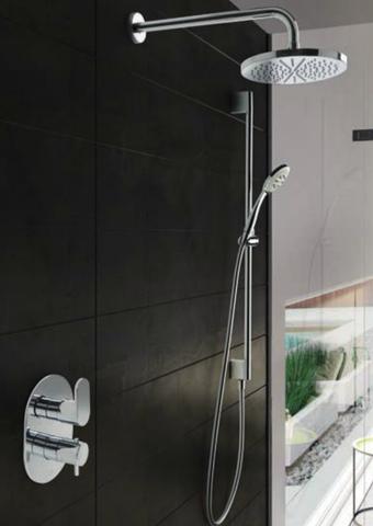 Hotbath IBS 5A Get Together inbouw doucheset Friendo geborsteld nikkel - met staafhanddouche - wandarm - hoofddouche 30cm - wandsteun