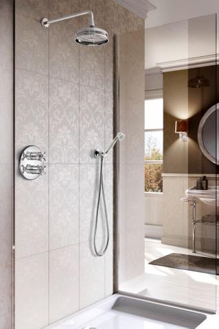 Hotbath IBS 6A inbouw doucheset Amice met 2-weg-stop-omstel chroom - plafondbuis 30cm