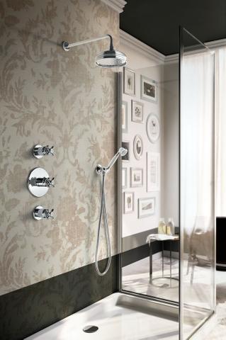 Hotbath IBS 6 inbouw doucheset Amice 2 stopkranen chroom - plafondbuis 30cm