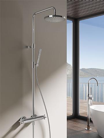 Hotbath SDS 3 Get Together stortdoucheset Chap chroom - staafhanddouche - 30cm hoofddouche