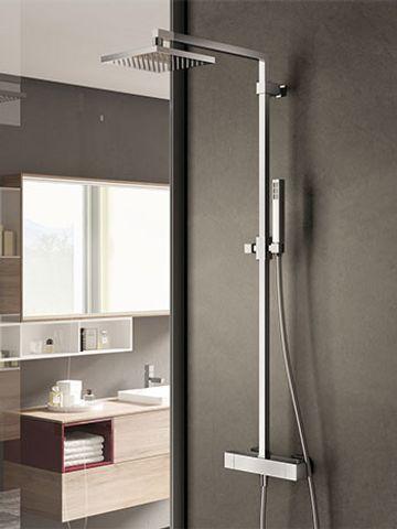 Hotbath SDS 4 Get Together stortdoucheset Bloke geborsteld nikkel - hoofddouche vierkant 30cm