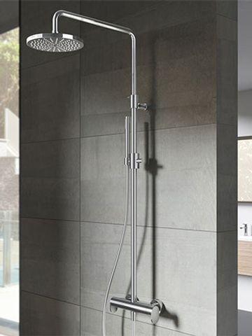 Hotbath SDS 8 Get Together stortdoucheset Friendo chroom - staafhanddouche - 25cm hoofddouche