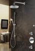 Hotbath IBS 3 Get Together inbouw doucheset Chap geborsteld nikkel - met ronde 3-standen handdouche - wandarm - hoofddouche 30cm - glijstang