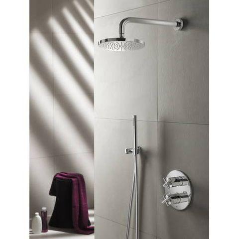Hotbath IBS 3A Get Together inbouw doucheset Chap chroom - met staafhanddouche - plafondbuis 30cm - hoofddouche 30cm - glijstang