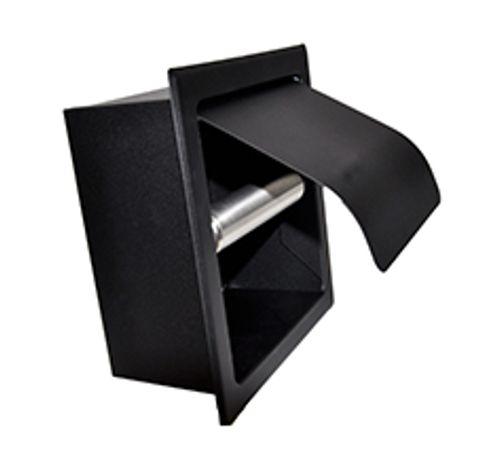 Wiesbaden Sunk inbouw closetrolhouder met klep mat zwart