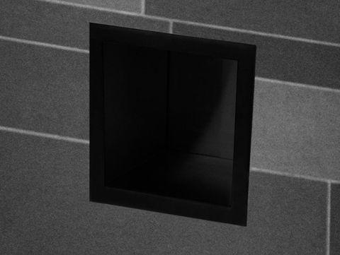 Wiesbaden Sunk inbouw reserverolhouder voor 6 rollen - mat zwart