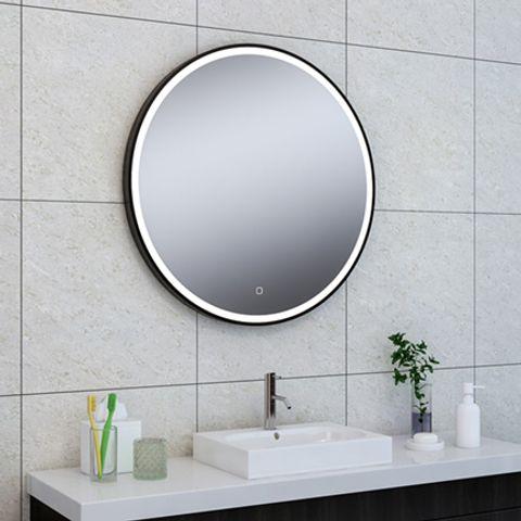 Wiesbaden Maro spiegel rond 80cm matzwart frame