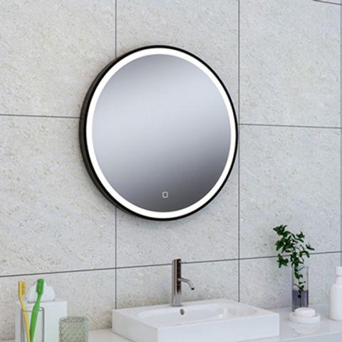 Wiesbaden Maro spiegel rond 60cm matzwart frame