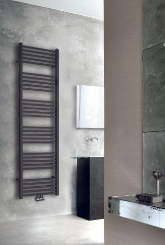 Wiesbaden Tower handdoekradiator 182 x 60 cm (H x L) mat zwart