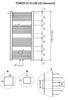 Wiesbaden Tower handdoekradiator 119 x 60 cm (H x L) antraciet
