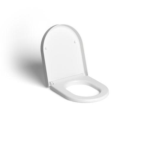 Clou Hammock hangtoilet Rimless mat wit met zitting