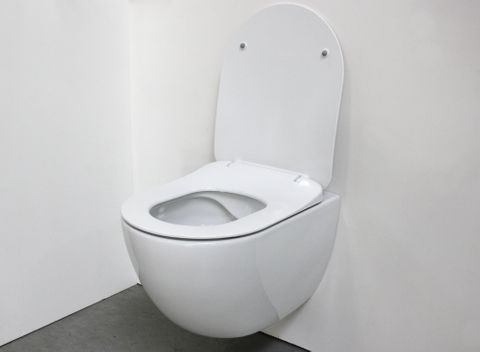 Bewonen Alento hangtoilet Rimless glans wit - met Softclose zitting