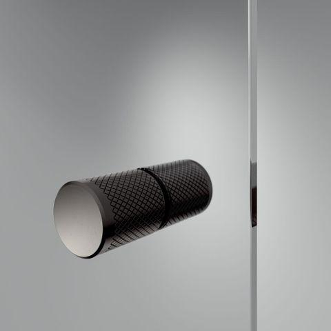 Sealskin Get Wet Contour swingdeur 2-delig nis 100cm mat zwart