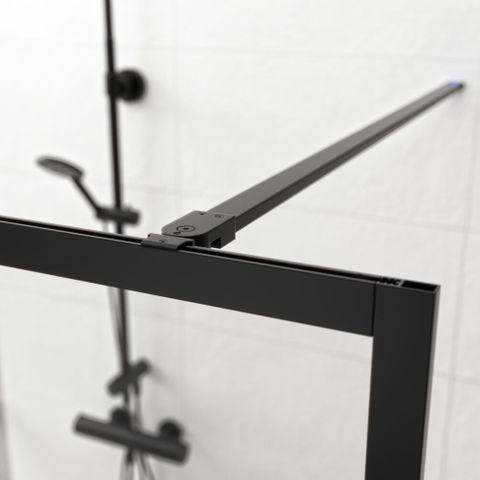 Sealskin Get Wet Contour inloopdouche A3 100cm mat zwart