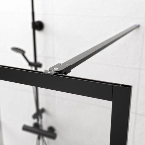 Sealskin Get Wet Contour stabilisatiestang 100 cm mat zwart
