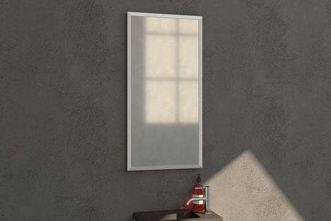 Bewonen Silhouette spiegel met aluminium frame geborsteld 40x80 cm