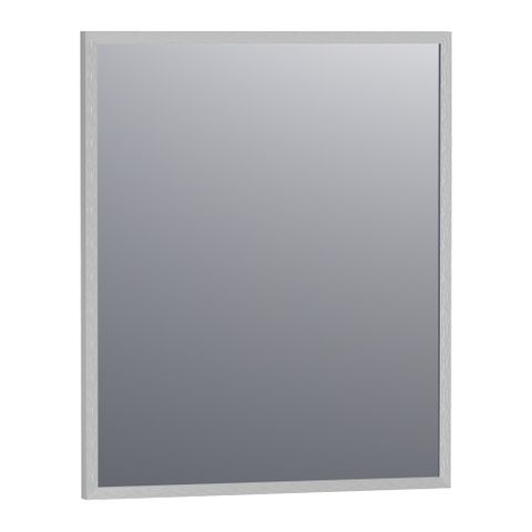 Bewonen Silhouette spiegel met aluminium frame geborsteld 58x70 cm