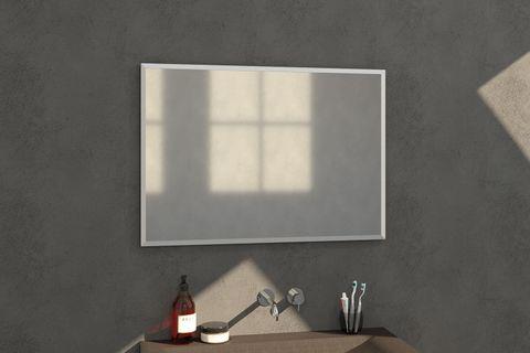 Bewonen Silhouette spiegel met aluminium frame geborsteld 100x70 cm