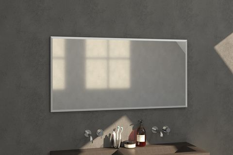 Bewonen Silhouette spiegel met aluminium frame geborsteld 139x70 cm
