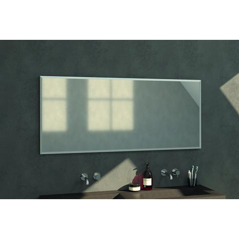 Bewonen Silhouette spiegel met aluminium frame geborsteld 160x70 cm