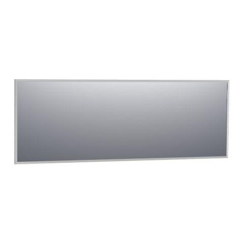 Bewonen Silhouette spiegel met aluminium frame geborsteld 199x70 cm