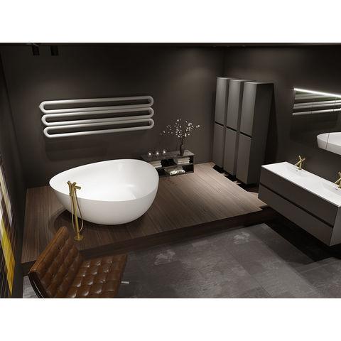 Riho Oviedo vrijstaand bad solid surface met sifon