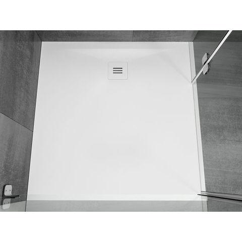 Riho Velvet Sole Douchevloer 80x80x3cm wit mat