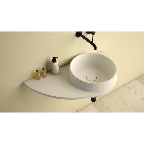 Ideavit SolidDual 3.0 wastafel 70x35 cm mat wit met plateau