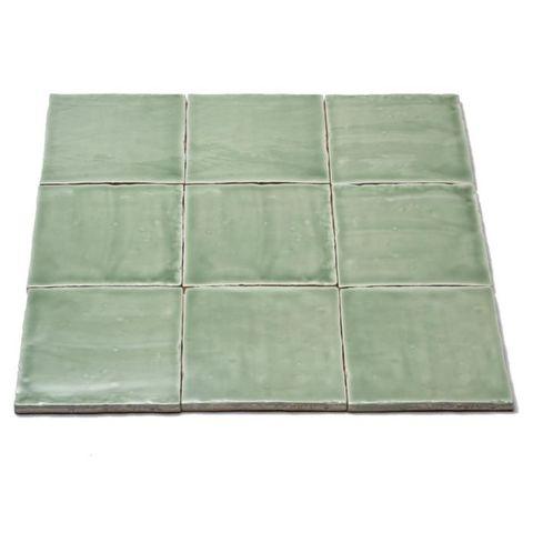 Jabo Oud hollandse Witjes tegel 13x13 cm Apple Green (60 stuks)