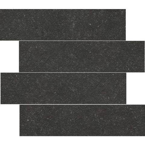 Cifre Belgium Pierre tegel 15 x 60 cm black (12 stuks)