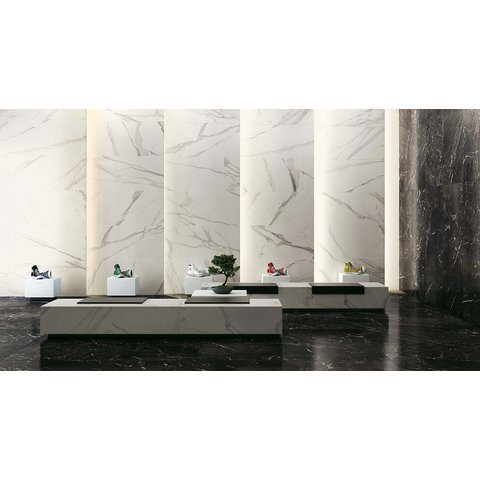 Fap Roma Statuario marmerlook tegel 75x150 - mat wit