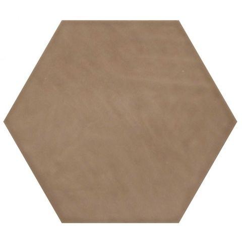 Cifre Vodevil hexagon 17,5 x 17,5 cm Moka glanzend (37 stuks)