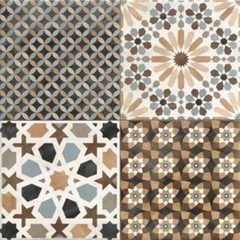Realonda Marrakech tegel 44 x 44 cm decor mix (7 stuks)