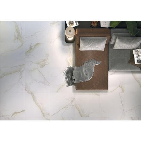 Cifre Diamond Gold marmerlook tegel 60x60 - goud/wit mat