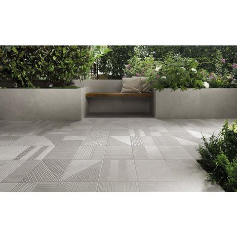 Fap Nux tegel 90 x 90 cm grey (2 stuks)