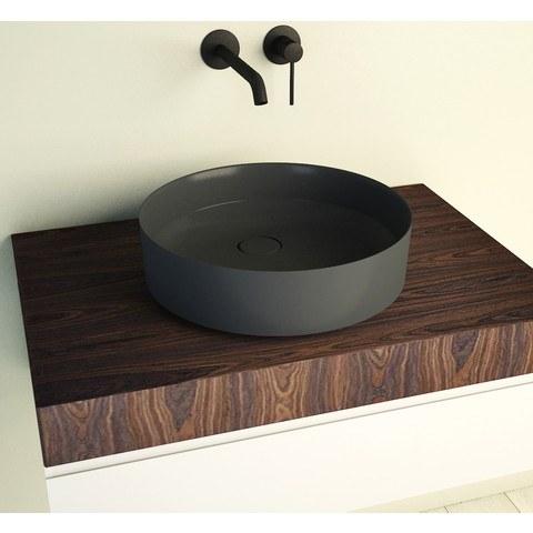 Ideavit SolidFloat opzetwastafel rond 40cm - dark grey