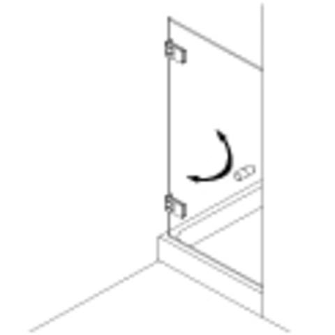 Van Rijn Products GL18 douchedeur op maat 1-delig (60-100cm) + inmeten/montage