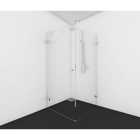 Van Rijn Products GL18 douchecabine op maat 2-delig (80x80 - 100x100cm) + inmeten/montage
