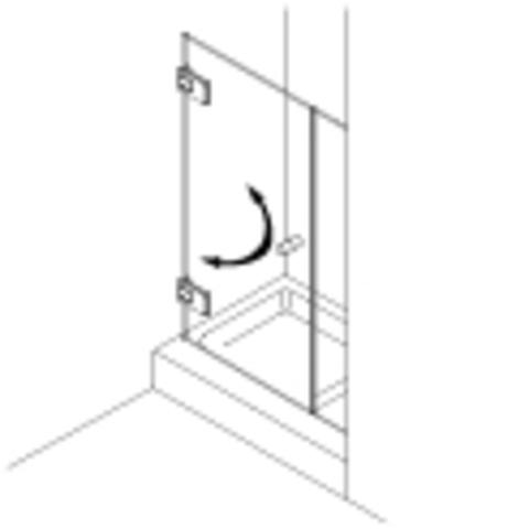 Van Rijn Products GL18 douchedeur op maat 2-delig (60-160cm) + inmeten/montage