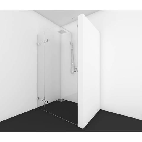 Bewonen Wilco 300 douchedeur op maat 2-delig (60-160cm) + inmeten/montage