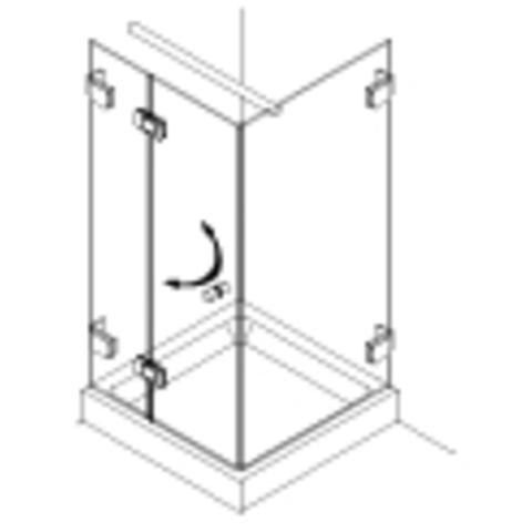 Van Rijn Products GL18 douchecabine op maat 3-delig (80x80 - 100x100cm) + inmeten/montage