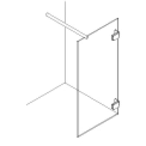 Van Rijn Products GL18 inloopdouche op maat (30 - 100cm) + inmeten/montage