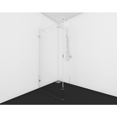 Bewonen Wilco 600 inloopdouche op maat (30 - 100cm en zijwand < 50cm) + inmeten/montage